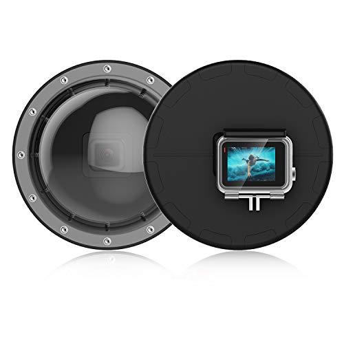 Suptig Dome, Dome Port, Unterwasserkuppel, kompatibel mit GoPro Hero 7, Schwarz, Hero 6, Hero 5, Hero 2018, wasserdicht (30 m)