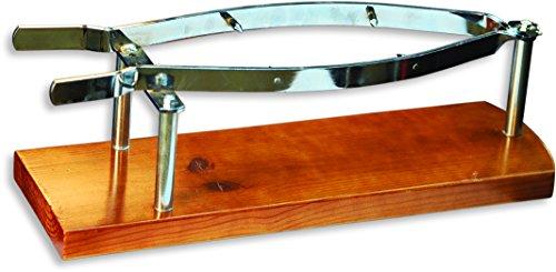 Sonpó Online - Modelo SJ2 - Jamonero pinza de JJ Cuchillería en madera de pino gallego color miel.