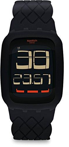 Swatch Reloj Digital para Hombre de Cuarzo con Correa en Silicona SURB121