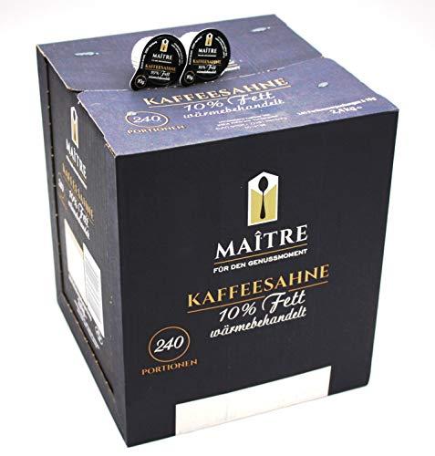 Maitre Kaffeesahne 10% Fett, 240 x 10g Portionen