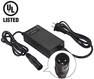 YHWSHINE 24V 2A Battery Charger with XLR Connector for Electric Scooters and Wheelchairs - Fit for Pride Mobility, Jazzy Power Chair, Drive Medical, Golden Technologies, Schwinn, Shoprider