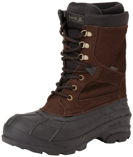 Kamik Men's Nationplus Snow Boot,Dark Brown,10 M US