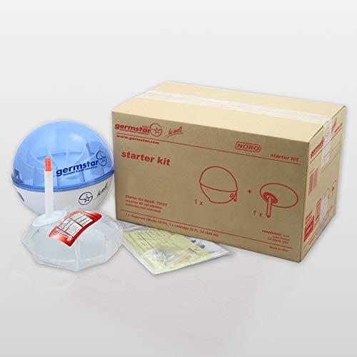 Germstar Desinfekionsspender Starter Kit Noro | Händedesinfektion | Touchless | schwarz-anthrazit