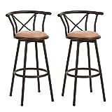 Homy Casa Lot de 2 tabourets de Bar industriels de Style Chaise Vintage avec...
