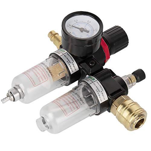 Druckminderer Druckluft Wasserabscheider Druckluft mit Manometer Wartungseinheit 1/4