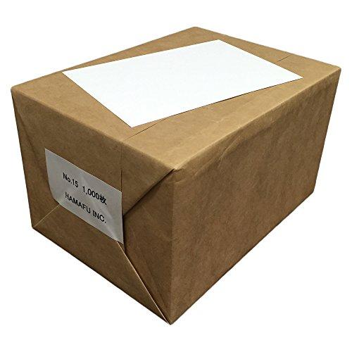 No.15 白色 両面無地ハガキ 厚手 (100x148) 【1,000枚】 ハムのQSLカードやDMに!しっかりとした厚みです!