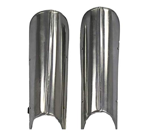 IMPACTNAUTICAL Gothic Medieval Knight Steel Greaves Leg Armor: Renaissance Costume