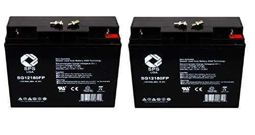 SPS Brand 12V 18Ah Replacement Battery for Motorino XPv 12V 18Ah Scooter Battery (2 Pack)