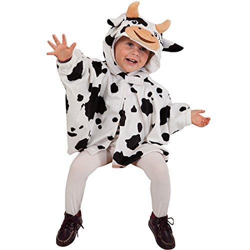 NET TOYS Kuh Kostüm Kinder Kuhkostüm Cape Tier Kinderkostüm Poncho Tierkostüm Karneval Kapuzenumhang Bauernhof Süßes Regencape Faschingskostüm Karnevalskostüme Tiere
