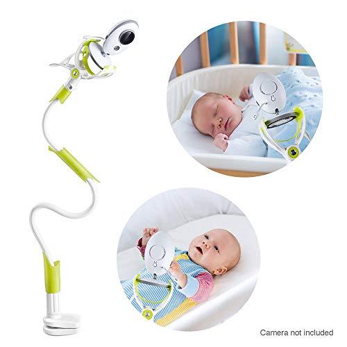 Bébé moniteur titulaire - Support de moniteur pour bébé Joseche, Support de moniteur vidéo pour bébé et étagère - Support de caméra flexible pour pépinière (Vert)