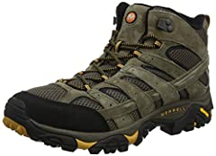 Removable Insole. Breathable mesh lining 5mm lug depth ; Molded nylon arch shank ;  Bellows, closed-cell foam tongue keeps moisture and debris out ;Merrell air cushion in the heel absorbs shock and adds stability Merrell M Select FIT.ECO+ blended EVA...