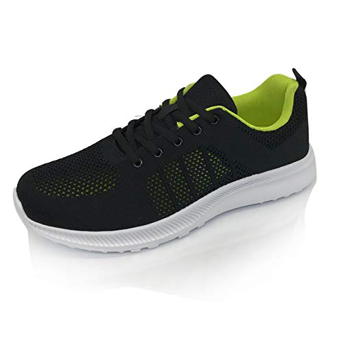 [Smart Traveler] スニーカー メンズ 運動靴 メッシュ 通気 軽量 軽い ウォーキング ランニング スポーツ ジム 黒 ( 26.5, ブラック )