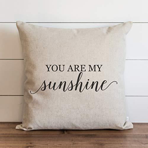 My Sunshine - Funda de almohada para sofá, banco, cama, decoración del hogar, 26 x 26 pulgadas