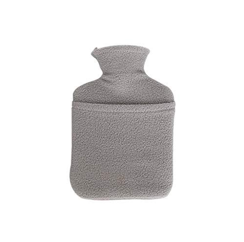 XIAODIANER Wärmflasche, einfache Farbe, Wassereinspritzung, tragbar, explosionssicher, warme Wassertasche, S