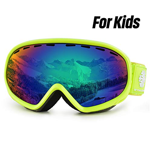 HUBO SPORTS Kids Ski Goggles, Youth Skiing Goggles, Double Spherical...