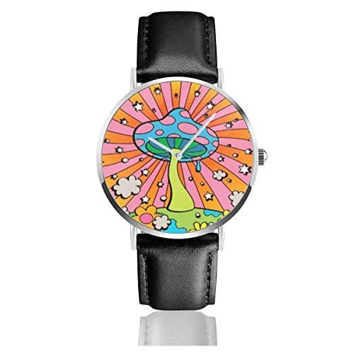 Orologio da Polso al Wrist Watch Analogue Quarzo con Cinturino in PU Watches Amore di funghi