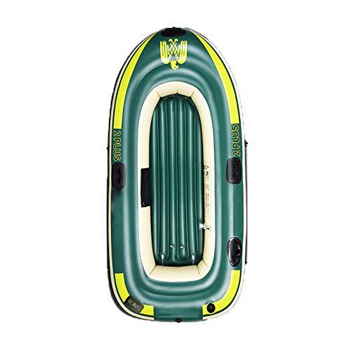 Tingeart Barco Inflable Kayak, Canoa Barco de Pesca Portátil Inflable En Bote Plegable De Goma Boat Bote de Goma PVC 198x118x41cm