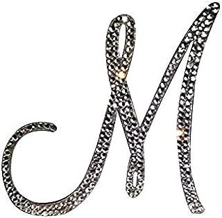 モノグラムウェディングケーキトッパークリスタル初期任意の文字A B C D E F G H I J K L M N O P Q R S T U V W X Y Z 6 inches シルバー linmu188