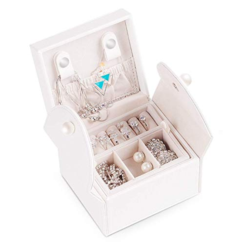 AJH Portable Jewelry Box Princess Travel Jewelry Bag Petite handgemaakte oorbellen Stud Oorbellen sieraden opbergdoos