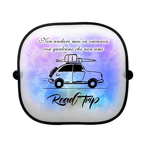 CreaTu Parasol para coche – Road Trip – personalizado, fabricado en Italia