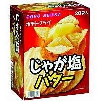 駄菓子 ポテトフライ シリーズ じゃが塩バター味 ケース売り 【1箱20袋入り×12 箱】 240食分 お菓子 東豊製菓 TOHO