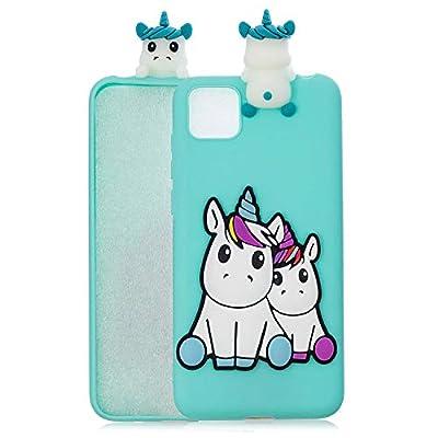 Finemoco Funda para Xiaomi Mi 11 Lite 5G Funda Silicona TPU Suave Carcasa para Xiaomi Mi 11 Lite Ultrafina 3D Unicornio Case Antigolpes Anti-Caídas Protección Funda Animados Dibujos Diseño Caso,Verde