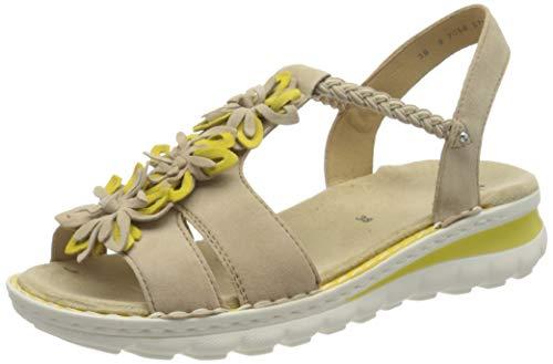 ARA Tampa, Sandali con Cinturino alla Caviglia Donna, Marrone (Camel, Yellow 76), 37 EU