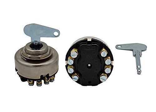 Zündlichtschalter 0-1-2-3 8 polig Zündschloß für Traktor Rasenmäher Schlepper Bagger Quad Unimog