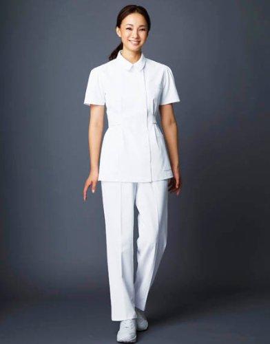 白衣 ナースウェア ホワイセル(自重堂) WH10142 レディスツータックパンツ サイズ:M ピンク(061)