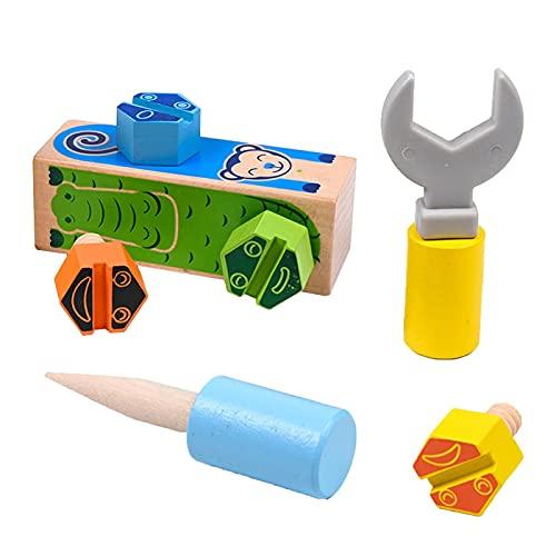 daiyanjing Juego de brocas para niños, tuercas y tornillos, juguetes de preescolar y juguetes Montessori para el hogar y el aula, a partir de 3 años Diplomatic