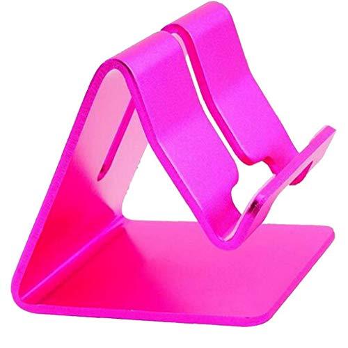 Mobile Phone Holder Aluminum Alloy Phone Stand Cell Phone Tablet Smartphone Dock Portable Desktop Cradle Holder Pink
