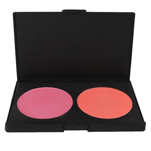 FantasyDay® 2 Couleurs Palette de Maquillage Blush Fard à Joues Poudre Cosmétique Set - Convient Parfaitement pour une Utilisation Professionnelle ou à la Maison