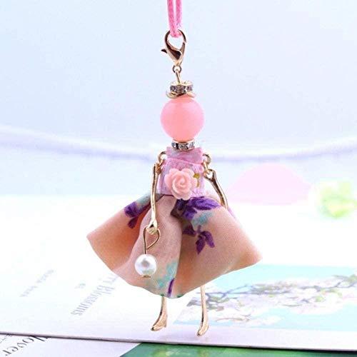 Collar Moda Perlas de imitación Preciosas Sweet Girls Doll Colgante Collar Largo Accesorios de joyería de Moda para Mujeres Niño