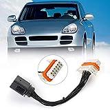 Artudatech Faros delanteros, faros de coche arnés de cableado de la lámpara de xenón conector delantero para Pors-che Caye-nne 2003-2006