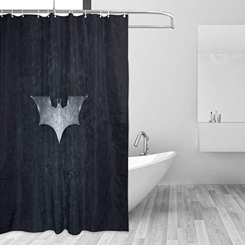 Why So Serious Joker Batman Duschvorhang rustikales Bauernhaus Badezimmer Dekor mit Haken 168 x 182 cm