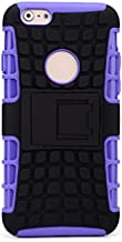 Kroo Rugged Two Piece Kick Stand Case for Apple iPhone 6 Plus - Non-Retail Packaging - Purple
