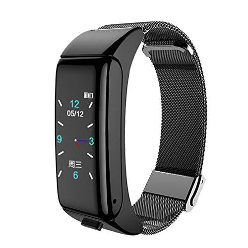 BFL B6 Smart Watch con Monitor De Ritmo Cardíaco En El Oído De Bluetooth, Reloj Deportivo De Fitness Tracker Headset, Adecuado para Android iOS,B