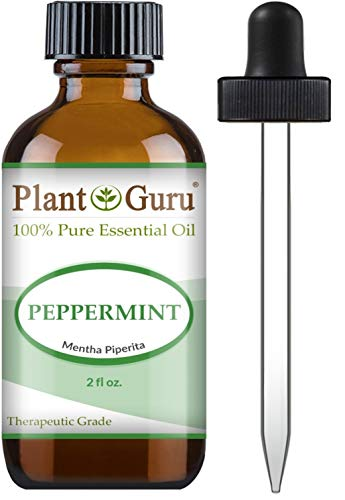Peppermint Essential Oil 2 oz 100% Pure Undiluted Therapeutic Grade Extract of Mentha Piperita, Great for Aromatherapy Diffuser, Skin Body and Hair