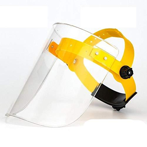 Protezione da viso Cappuccio trasparente per saldatura, maschera protettiva montata sulla testa in plexiglass-Colore trasparente