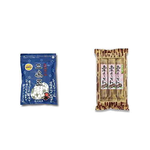 [2点セット] 飛騨 打保屋 駄菓子 三嶋豆(150g)・スティックようかん[栗](50g×3本)