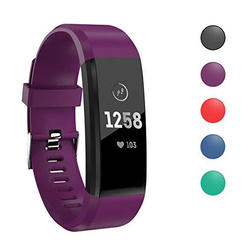 MASOMRUN Fitness Tracker mit Pulsmesser Fitness Armband Schrittzähler Uhr Pulsuhren Smart Armband Uhr Aktivitätstracker mit Schlaf Monitor Kompatibel mit Android iOS Smartphone