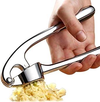 Handheld Zinc Alloy Rust-proof Garlic Mincer