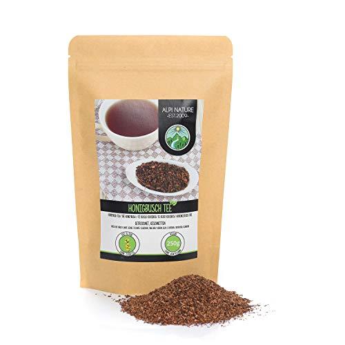 Honigbusch Tee (250g), Honeybush geschnitten, Rooibos rot schonend getrocknet, 100% rein und naturbelassen zur Zubereitung von Tee, Kräutertee