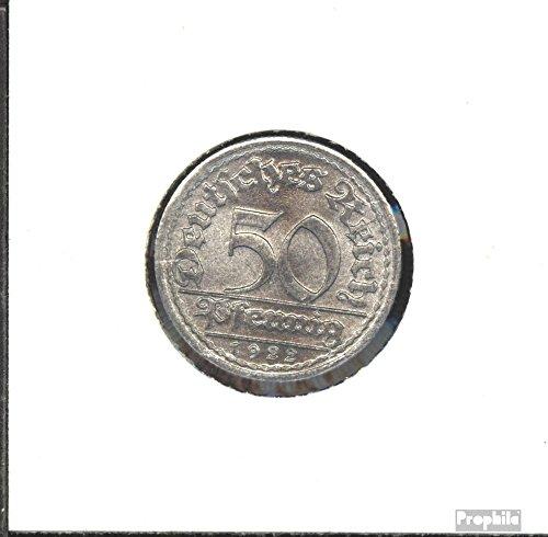 Deutsches Reich Jägernr: 301 1921 D vorzüglich Aluminium 1921 50 Pfennig Ährengarbe (Münzen für Sammler)