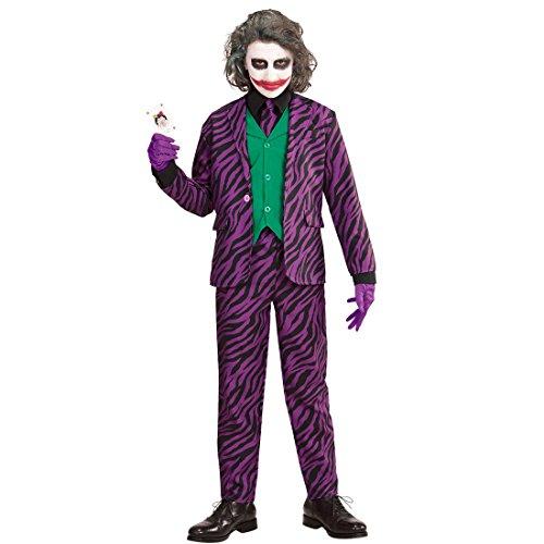NET TOYS Joker Kinder Kostüm Bösewicht Halloweenkostüm 140, 8 - 10 Jahre Schurke Karnevalskostüm Jungen Kinderkostüm Halloween