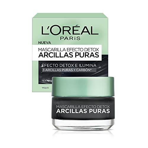 L'Oreal Paris Mascarilla Negra, Arcillas Puras, 40 ml