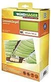 Windhager Toldo Vela de protección Solar tecnología de tensado de Cuerdas 420 x 140 cm, Ideal para pérgola o Invernadero, Verde Manzana, 10882