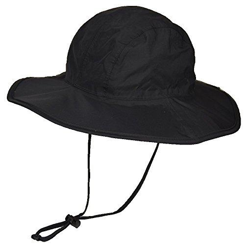 マウンテンハンター 防水 撥水 サファリハット upf50 uv カット ひも付き つば広 レインハット 帽子 折りた...