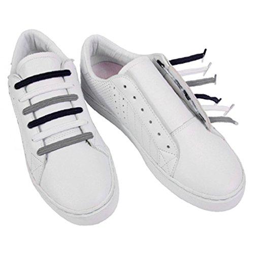 U-LACE CLASSIC Lacets plats élastiques pour chaussures et baskets Vans Converse Adidas Nike Homme Femme Enfant (YANKS)