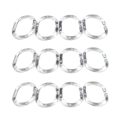 Curtain Rings  Shower Curtain Rings Clear Set of 12 Silicone Rubber Home & Garden Housekeeping & Organizers Christmas for Faclot